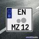 Motorradkennzeichen 220 x 200mm