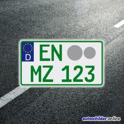 Traktorkennzeichen grün (nicht gewerblich)