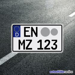 Traktorkennzeichen schwarz (gewerblich)